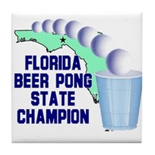 Florida Beer pong State Champ Tile Coaster