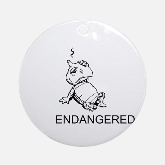 Endangered Turtles Round Ornament