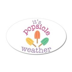 Popsicle Weather Wall Decal