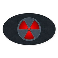 Red Radiation Symbol Decal