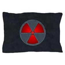 Red Radiation Symbol Pillow Case