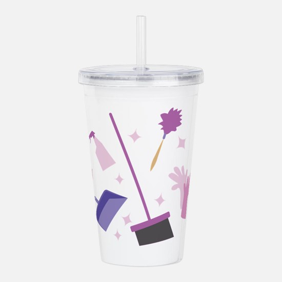 Spring Cleaning Acrylic Double-wall Tumbler