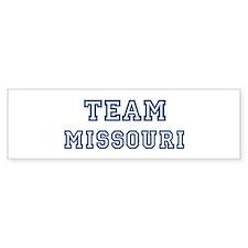 Team Missouri Bumper Bumper Sticker
