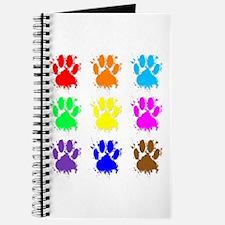 Ink Splatter Dog Paw Pattern Journal