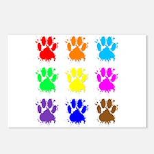 Ink Splatter Dog Paw Patt Postcards (Package of 8)