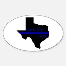 Thin Blue Line Back The Blue Texas Decal
