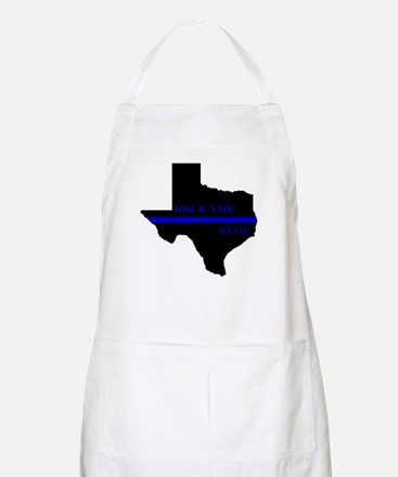 Thin Blue Line Back The Blue Texas Apron