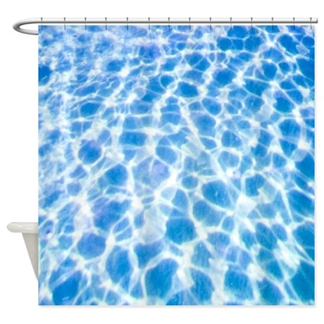 Dappled water shower curtain by listing store 11861778 Swimming pool shower curtain