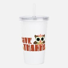 Give Thanks Acrylic Double-wall Tumbler