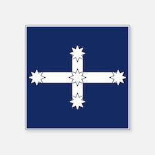 "Eureka Flag Square Sticker 3"" x 3"""