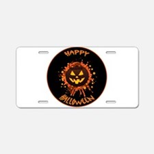 Orange Brown and Yellow Pum Aluminum License Plate