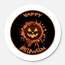 Orange Brown and Yellow Pumpkin S Round Car Magnet