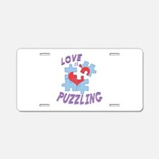Love Is Puzzling Aluminum License Plate