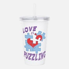 Love Is Puzzling Acrylic Double-wall Tumbler