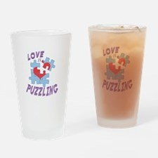 Love Is Puzzling Drinking Glass