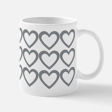Cute Grey Hearts Mug