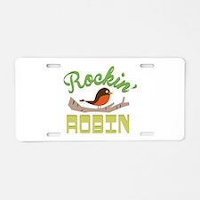 Rockin Robin Aluminum License Plate