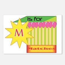 M is for Matches Postcards (Package of 8)