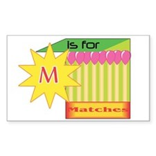 M is for Matches Rectangle Decal