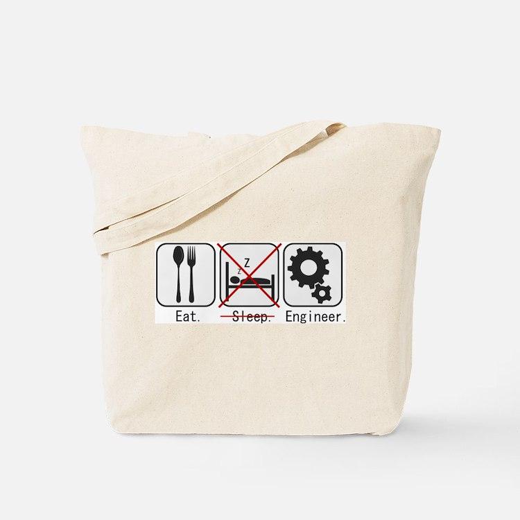 Eat. (no) Sleep. Engineer. Tote Bag