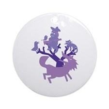 Peter & Wolf Round Ornament