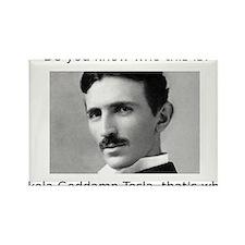 Nikola Goddamn Tesla Rectangle Magnet