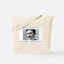 Nikola Goddamn Tesla Tote Bag
