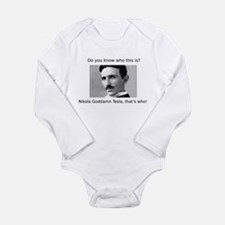 Nikola Goddamn Tesla Long Sleeve Infant Bodysuit