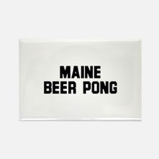 Maine Beer Pong Rectangle Magnet