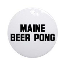 Maine Beer Pong Ornament (Round)