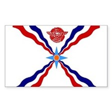 Flag of Assyria Rectangle Decal