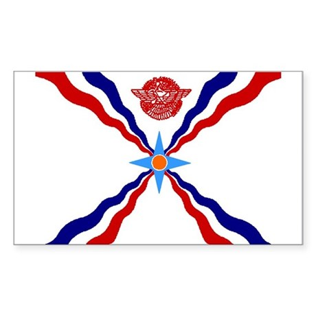 Flag of Assyria Rectangle Sticker