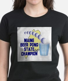 Maine Beer Pong State Champio Tee