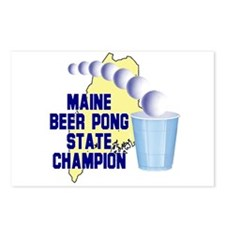 Maine Beer Pong State Champio Postcards (Package o
