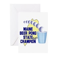 Maine Beer Pong State Champio Greeting Cards (Pk o
