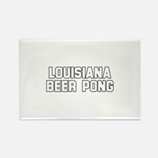 Louisiana Beer Pong Rectangle Magnet
