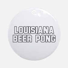 Louisiana Beer Pong Ornament (Round)