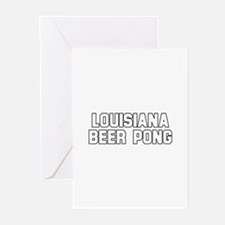 Louisiana Beer Pong Greeting Cards (Pk of 10)