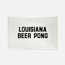 Louisiana Beer Pong Rectangle Magnet
