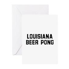 Louisiana Beer Pong Greeting Cards (Pk of 10)