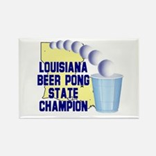 Louisiana Beer Pong State Cha Rectangle Magnet