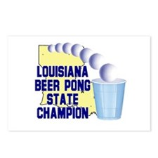 Louisiana Beer Pong State Cha Postcards (Package o