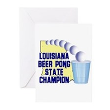Louisiana Beer Pong State Cha Greeting Cards (Pk o