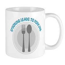 Spooning Leads to Forking - B Small Mug