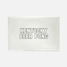 Kentucky Beer Pong Rectangle Magnet
