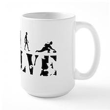 Curling Caveman Ceramic Mugs