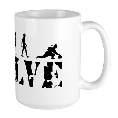 Curling Caveman Large Mug