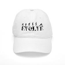 Curling Caveman Baseball Cap