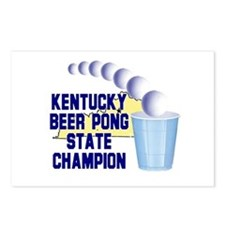 Kentucky Beer Pong State Cham Postcards (Package o