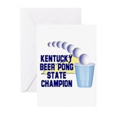 Kentucky Beer Pong State Cham Greeting Cards (Pk o